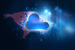 Cloud computing system abstract technology background Royalty Free Stock Image