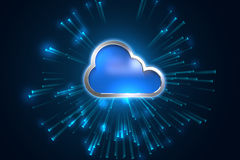 Cloud computing system abstract technology background Royalty Free Stock Photo
