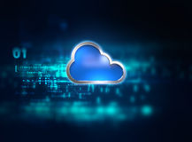 Cloud computing system abstract technology background Royalty Free Stock Images
