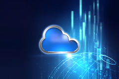 Cloud computing system abstract technology background Stock Photo