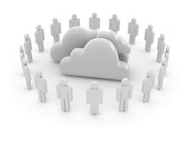 Cloud computing system Royalty Free Stock Photos