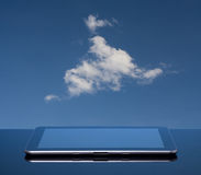 Cloud computing with tablet Royalty Free Stock Images