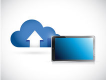 Cloud computing and tablet. connection concept Royalty Free Stock Photos