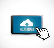 Cloud computing tablet. online storage concept Royalty Free Stock Image