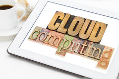 Cloud computing on a tablet Stock Image