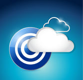 Cloud computing target illustration design Royalty Free Stock Photos