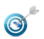 Cloud computing target illustration design Royalty Free Stock Images
