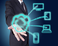 Cloud computing technology Royalty Free Stock Image