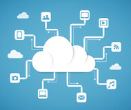 Cloud computing technology abstract scheme Royalty Free Stock Photography