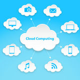 Cloud computing technology abstract scheme eps10 vector illustration Royalty Free Stock Photography
