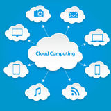 Cloud computing technology abstract scheme eps10 vector illustration Stock Photo