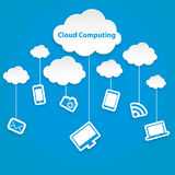 Cloud computing technology abstract scheme eps10 vector illustration Royalty Free Stock Images