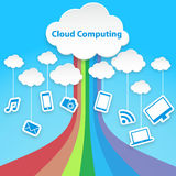 Cloud computing technology abstract scheme eps10 vector illustration Stock Photos