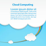 Cloud computing technology abstract scheme eps10 vector illustration.  stock illustration