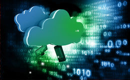 Cloud computing technology Royalty Free Stock Images