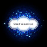 Cloud computing technology background. Illustration cloud computing symbol technology background Stock Photography