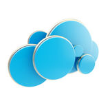 Cloud computing technology blue icon Stock Photos
