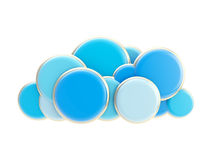 Cloud computing technology blue icon Royalty Free Stock Photography
