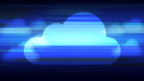Cloud technology abstract background. Cloud computing technology concept abstract background. Vector illustration royalty free illustration