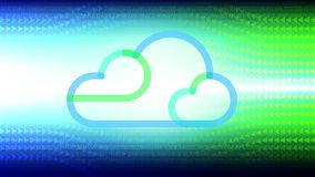 Cloud technology abstract background. Cloud computing technology concept abstract background. Vector illustration stock illustration