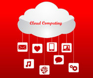 Cloud computing technology concept design abstract. I have created cloud computing graphic stock illustration