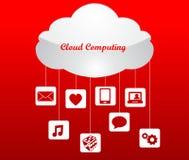 Cloud computing technology concept design abstract Stock Photos