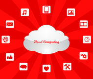 Cloud computing technology concept design abstract Royalty Free Stock Image