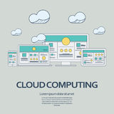 Cloud computing technology concept design Royalty Free Stock Photography