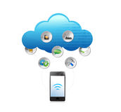 Cloud computing technology concept illustration Royalty Free Stock Photography