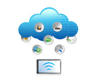 Cloud computing technology concept illustration Stock Photos