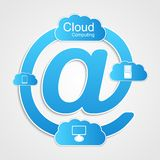 Cloud computing technology concept. Stock Images