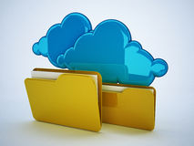 Cloud computing technology. 3d high quality render Stock Image