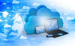Cloud computing technology. 3d illustration Stock Image