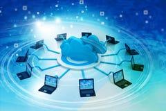 Cloud computing technology. 3d illustration Stock Photo
