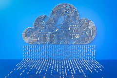 Cloud computing technology. 3d rendering circuit cloud for cloud computing technology Stock Image