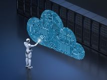 Cloud computing technology royalty free illustration