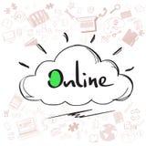 Cloud Computing Technology Device Set Internet Data Information Storage Doodle Royalty Free Stock Photo