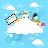 Cloud computing technology device set internet Royalty Free Stock Photo