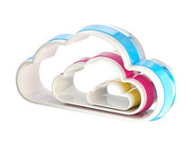 Cloud computing technology icon emblem Royalty Free Stock Photo