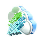 Cloud computing technology icon emblem Royalty Free Stock Photos
