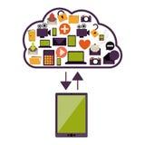 Cloud computing technology Royalty Free Stock Image