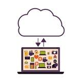 Cloud computing technology Stock Image