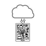 Cloud computing technology Royalty Free Stock Photos