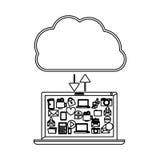 Cloud computing technology. Icon  illustration graphic design Stock Photos