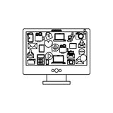 Cloud computing technology. Icon  illustration graphic design Royalty Free Stock Photography
