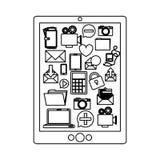 Cloud computing technology. Icon  illustration graphic design Royalty Free Stock Photo