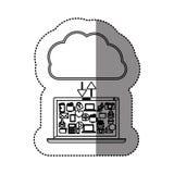 Cloud computing technology. Icon  illustration graphic design Stock Image