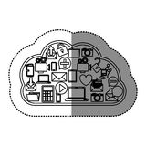 Cloud computing technology. Icon  illustration graphic design Royalty Free Stock Images