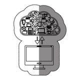 Cloud computing technology. Icon  illustration graphic design Stock Photo