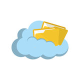 Cloud computing technology. Icon  illustration graphic design Stock Photography